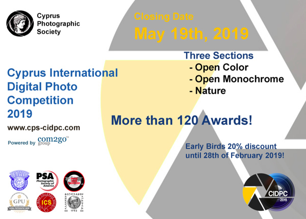 CIDPC-2019 CYPRUS INTERNATIONAL DIGITAL PHOTO COMPETITION