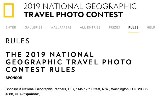 The National Geographic Travel Photo Contest