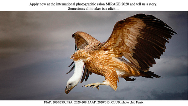 The International exhibition of art photography MIRAGE 2020