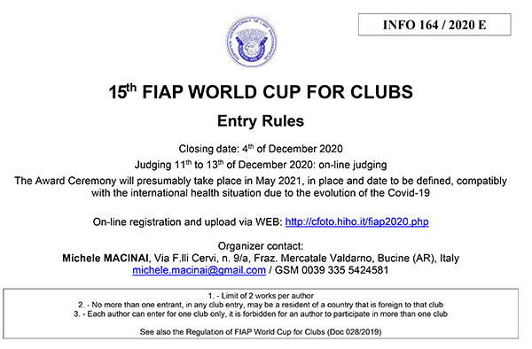 th 15 FIAP WORLD CUP FOR CLUBS