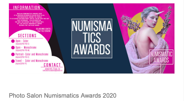 Numismatics Awards 2020
